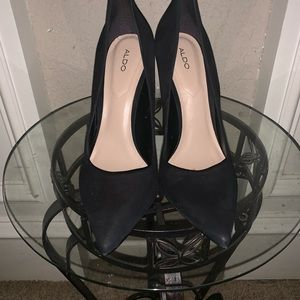 Black /Nubuck High heel